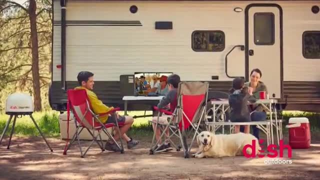 Dish Outdoors TV Commercial Ad 2020, Travel Season Featuring Debbe Dunning
