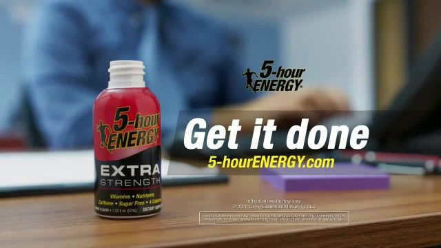 5Hour Energy TV Commercial Ad 2020, Office Work