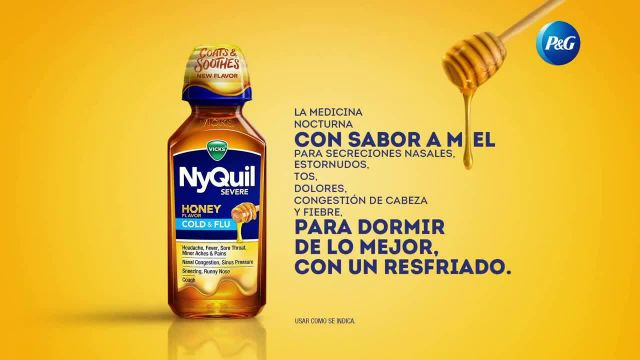 Vicks NyQuil Severe Honey Cold & Flu TV Commercial Ad 2020, Calmante