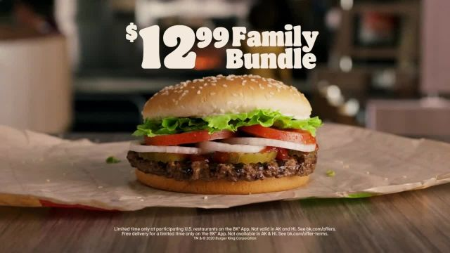 Burger King Family Bundle TV Commercial Ad 2020, Flame Grilling for the Family