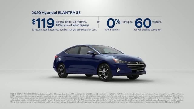 2020 Hyundai Elantra TV Commercial Ad 2020, Only Takes a Second