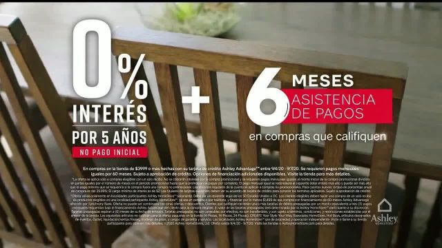 Ashley HomeStore Venta de Labor Day TV Commercial Ad 2020, 25% de descuento- más interés por seis me