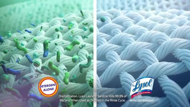 Lysol Laundry Sanitizer TV Commercial Ad 2020, Protection
