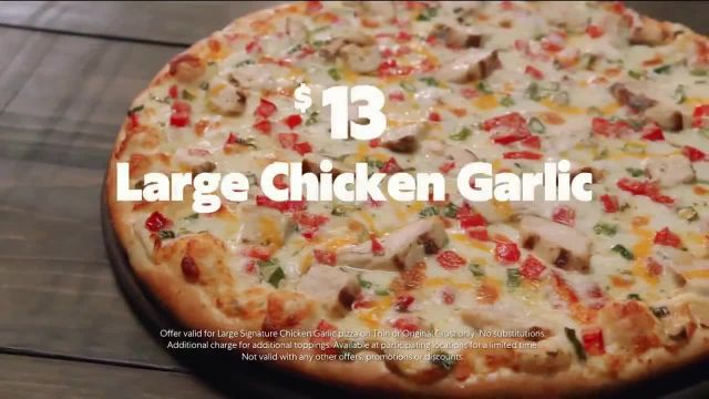 Papa Murphy's Chicken Garlic Pizza TV Commercial Ad 2020, Chow Down
