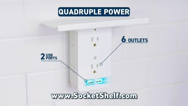 Socket Shelf TV Commercial Ad 2020, Add a Shelf to Any Outlet