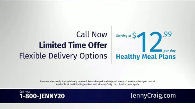 Jenny Craig Healthy Meal Plans TV Commercial Ad 2020, Back to Work