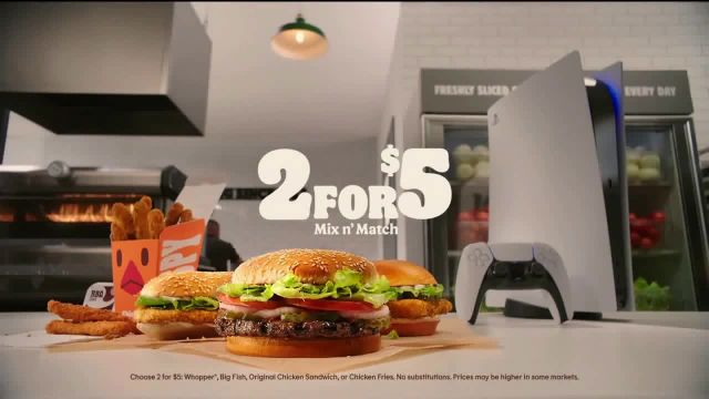 Burger King 2 for $5 Mix N' Match TV Commercial Ad 2020, With a Side of PS5