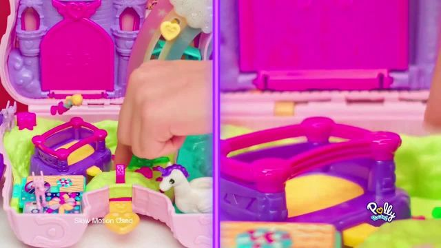 Polly Pocket Unicorn Party Play Set TV Commercial Ad 2020, Surprises