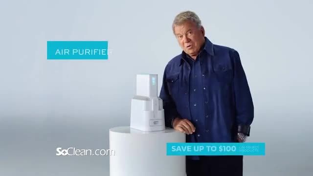 SoClean TV Commercial Ad 2020, New Family of Products Featuring William Shatner