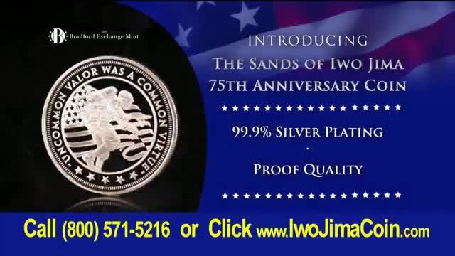 Bradford Exchange Mint Sands of Iwo Jima 75th Anniversary Coin TV Commercial Ad 2020, February 1945