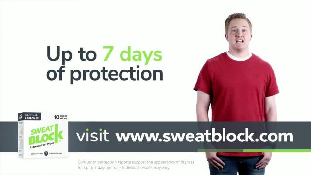 SweatBlock TV Commercial Ad 2020, 20% Off Your First Order