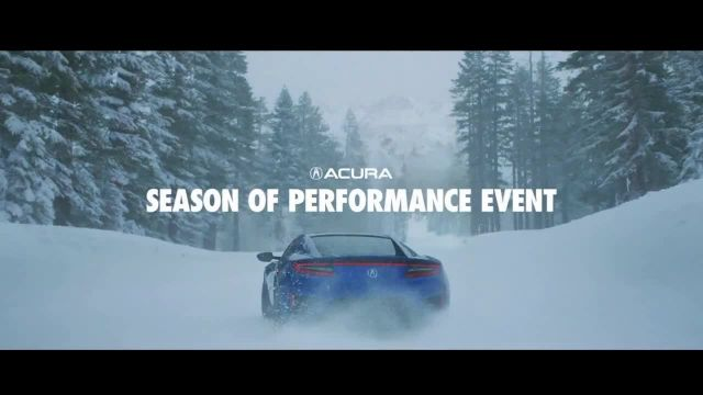 Acura Season of Performance Event TV Commercial Ad 2020, An Untouched Winter