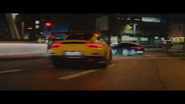 Porsche Taycan TV Commercial Ad 2020, The Heist