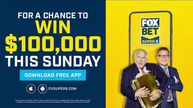 FOX Bet Super 6 App TV Commercial Ad 2020, Win $100,000 Featuring Terry Bradshaw