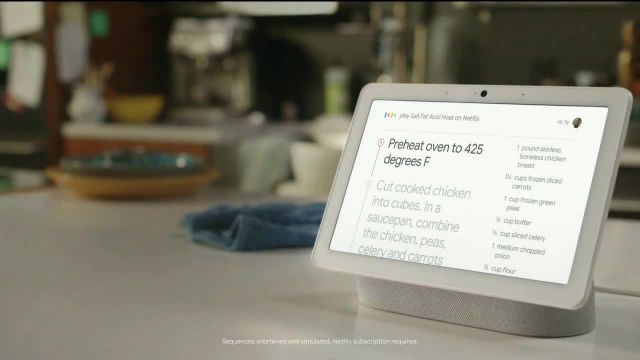Google Nest Hub Max TV Commercial Ad 2020, Dine-In Motivator- $4999