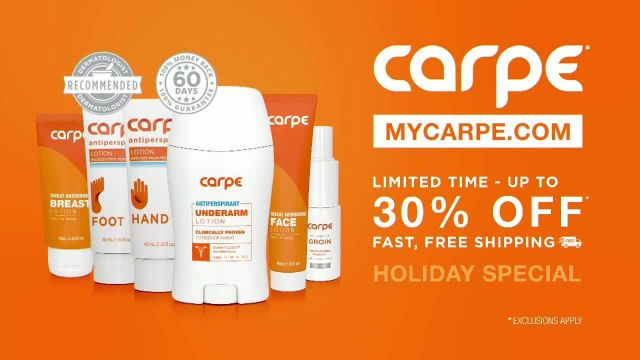 Carpe Holiday Special TV Commercial Ad 2020, This Is Patrick's Sweat Story- Up to 30% Off