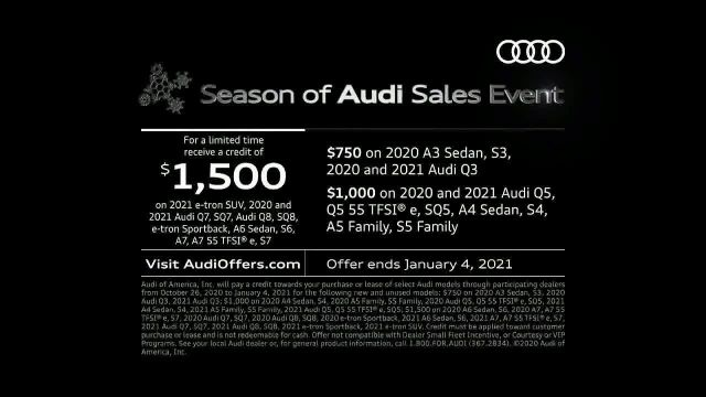 Season of Audi Sales Event TV Commercial Ad 2020, Thrill