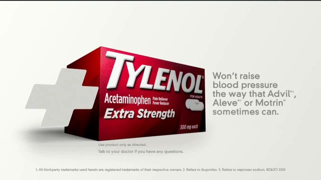 Tylenol Extra Strength TV Commercial Ad 2020, Joint Pain and High Blood Pressure- Lift