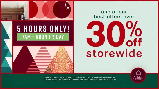 Ashley HomeStore Black Friday Sale TV Commercial Ad 2020, Doorbusters- $199- 30% Storewide