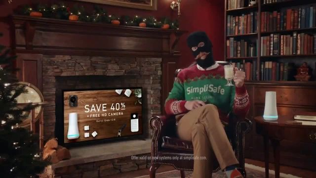 SimpliSafe TV Commercial Ad 2020, At Home With Robbert- Eggnog- 40%