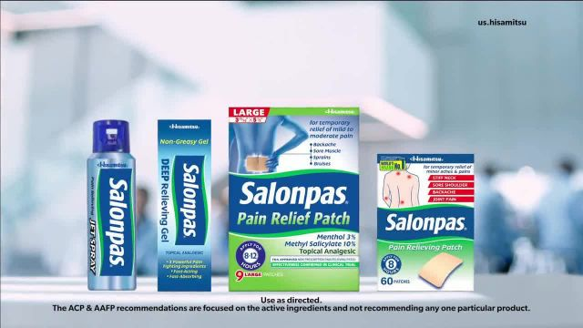Salonpas TV Commercial Ad 2020, Two Medical Societies