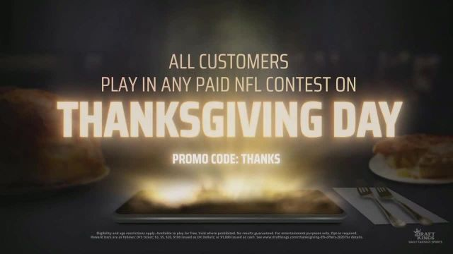 DraftKings Daily Fantasy TV Commercial Ad 2020, $25 Million Thanksgiving Giveaway