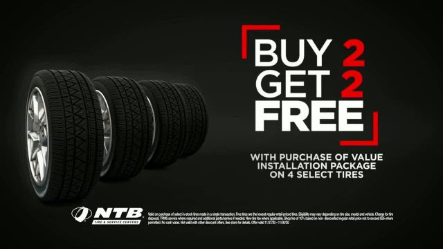 National Tire & Battery Black Friday Savings Event TV Commercial Ad 2020, Buy Two, Get T