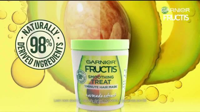Garnier Fructis Treats 1 Minute Hair Masks TV Commercial Ad 2020, Super Fruits' Song by Mark Ro