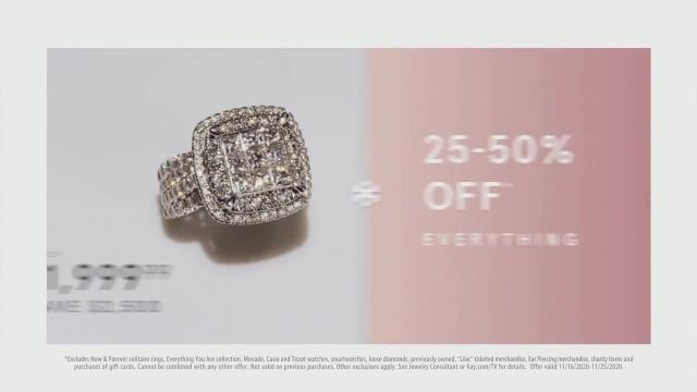 Kay Jewelers Friends and Family Event TV Commercial Ad 2020, 25 to 50% off Everything