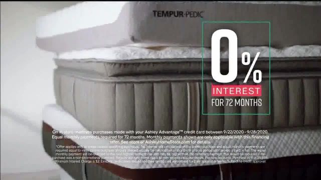 Ashley HomeStore Semi-Annual Mattress Sale TV Commercial Ad 2020, 0% Interest and Rewards Card