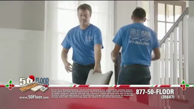 50 Floor 60% Off Sale TV Commercial Ad 2020, Holidays- Save $100 and Installation' Featuring Ri