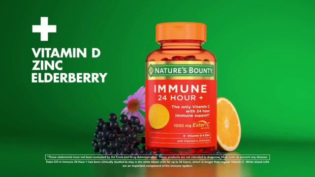 Nature's Bounty Immune 24 Hour+ TV Commercial Ad 2020, Longer Lasting