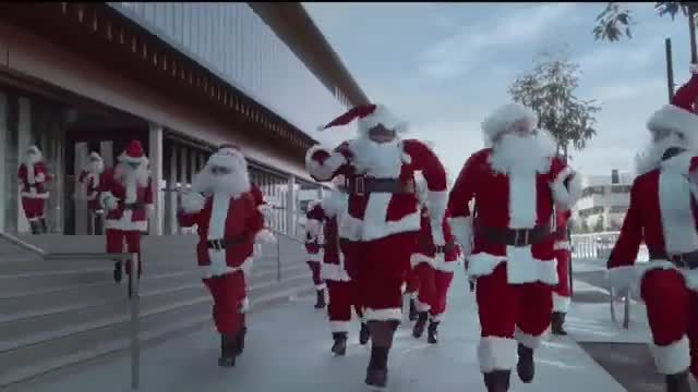 Ford Built for the Holidays Sales Event TV Commercial Ad 2020, Running of the Santas