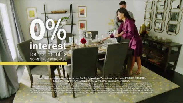 Ashley HomeStore Sale + Clearance Event TV Commercial Ad 2021, Dining Tables and Sofa Savings- No Mi