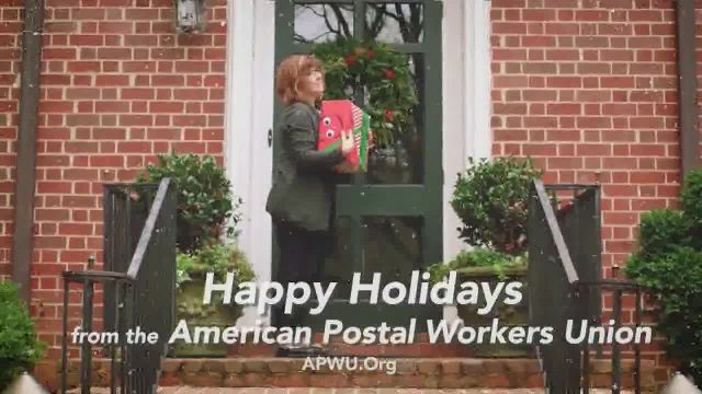 The American Postal Workers Union TV Commercial Ad 2021, Happy Holidays