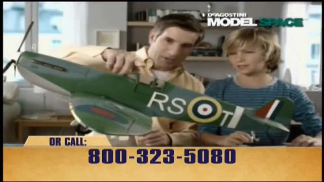 Model Space Spitfire TV Commercial Ad 2021, Build from the Scale Model Kit