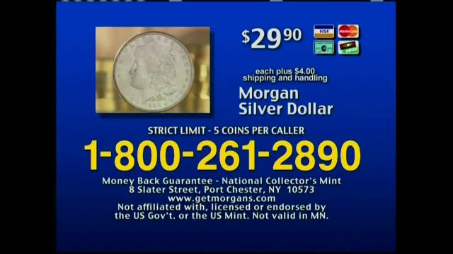 National Collector's Mint TV Commercial Ad 2021, Morgan Silver Dollar