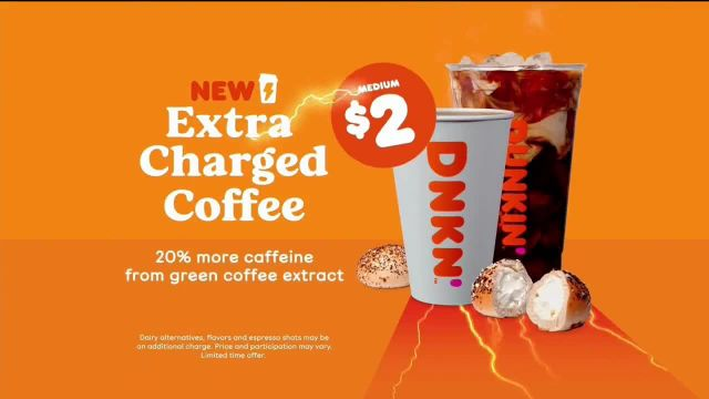 Dunkin' Extra Charged Coffee TV Commercial Ad 2021, A Little Extra
