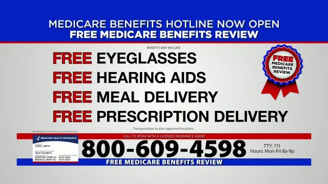 Medicare Benefits Hotline TV Commercial Ad 2021, New Year- 2021 Benefits