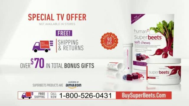 SuperBeets TV Commercial Ad 2021, DPB V5 with Amazon Tag' Featuring Dana Loesch, Hunter Kemper