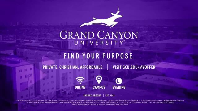 Grand Canyon University TV Commercial Ad 2021, 270 Programs