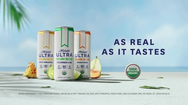 Michelob ULTRA Organic Seltzer Cucumber Lime TV Commercial Ad 2021, Not Playing Around