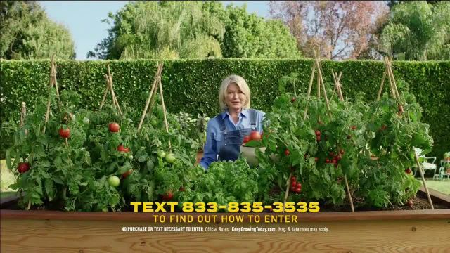 Scotts Miracle-Gro 2021 Sper Bowl TV Commercial Ad, Keep Growing' Featuring Martha Stewart, Leslie David Baker