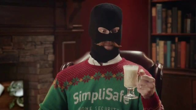 SimpliSafe TV Commercial Ad 2021, At Home With Robbert Eggnog 50%