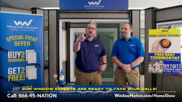 Window Nation Virtual Home Show Extravaganza TV Commercial Ad 2021, Buy Two, Get Two Free