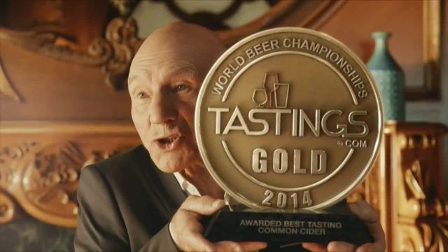Strongbow Hard Cider TV Commercial Ad 2021, Award' Featuring Patrick Stewart
