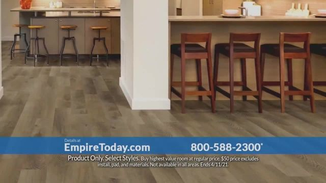 Empire Today $50 Room Sale TV Commercial Ad 2021, Buy One, Get One- No Limit