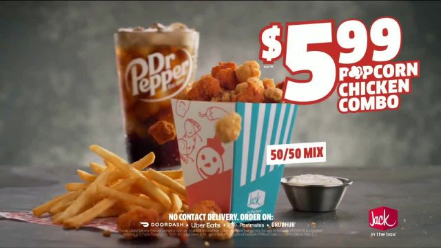 Jack in the Box Popcorn Chicken Combo TV Commercial Ad 2021, Refuse to Choose- $599