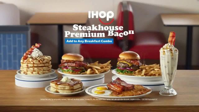 IHOP Steakhouse Premium Bacon TV Commercial Ad 2021, The Future of Bacon