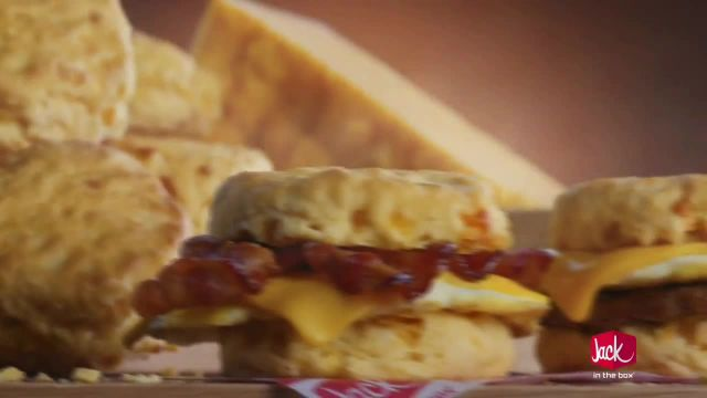Jack in the Box Cheddar Biscuit Breakfast Sandwiches TV Commercial Ad 2021, Cheddar Frisbee